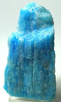 Kröhnkite is a rare copper sulfate mineral. Chuquicamata Mine, Antofagasta Region, Chile