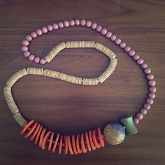 """Anthropologie Wood Bead Necklace 35 - 36"""" total length. Cute and unique statement necklace. Like new, no flaws. Beautiful colors! Anthropologie Jewelry Necklaces"""