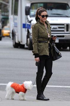 Olivia Palermo Stuart Weitzman boots