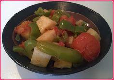 No gluten! Yes vegan!: Sedano rapa con peperoni e pomodori