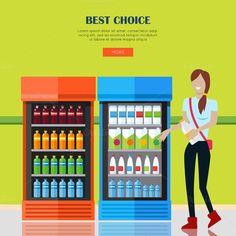 Woman in Supermarket by robuart on @creativemarket