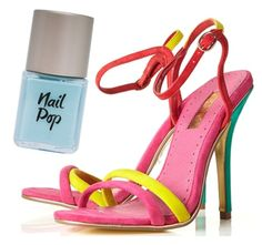 Topshop's Rainbow Strappy Sandals.  Wear with 'Vintage' Nail Pop £5 for a cool colour clash.