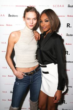 New York Fashion Week's Party Animals - Karlie Kloss and Jourdan Dunn