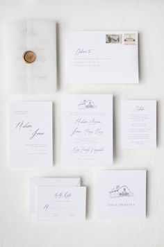 Custom Venue Sketch Calligraphy Invitation | Ettie Kim Collection