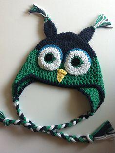 Little Boy Crochet Owl Hat
