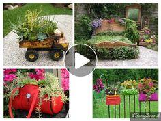 Vecchie scarpe, vasi rotti e molto altro. Ecco come riutilizzare oggetti che, immancabilmente sarebbero finiti nel bidone della spazzatura, 200 modi per abbellire il vostro giardino, balconi o un angolo di casa... Vi assicuro che ne vedrete d...