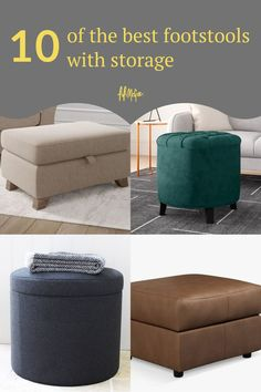 Look through this collection of footstools and pouffes to add the final touch to your living room.  #footstools #furniture #furnitureideas #livingroom #livingroomideas