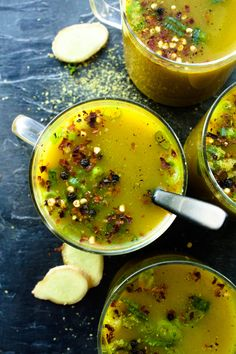 I've been sitting on a pretty rocking broth recipe for a while, that sips like it's decadent long-simmered 'bone' varieties, without using . Soup Recipes, Whole Food Recipes, Vegetarian Recipes, Dinner Recipes, Cooking Recipes, Healthy Recipes, Vegan Soups, Vegan Detox Soup, Soups And Stews