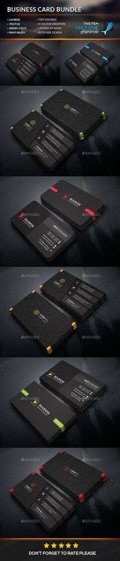 Business Card Bundle Template #design Download: http://graphicriver.net/item/business-card-bundle/12183685?ref=ksioks