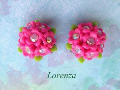 Boucles vintage rose pimpant par lorenza33 sur Etsy, $24,00