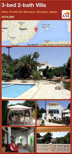 3-bed 2-bath Villa in Villa, Portet De Moraira, Alicante, Spain ►€215,000 #PropertyForSaleInSpain