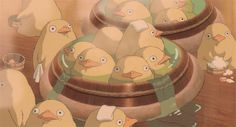 When you just need to relax in a bath house with a bunch of baby ducks (really specific but you never know!) | 19 Essential Miyazaki Reaction GIFS For Every Occasion