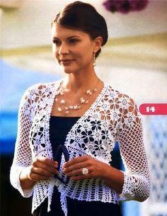 Irish crochet &: Болеро-жакет и платье. Схемы.