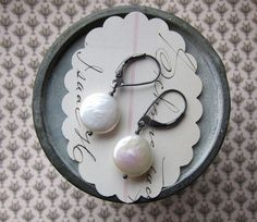 Dave, these are most favorite.  claire earrings  white by eliwill on Etsy, $19.00