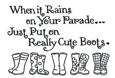 Love this! Since it's always raining here!
