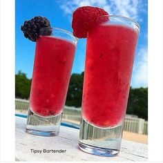 Berry Delicious Tequila Shots - For more delicious recipes and drinks, visit us here: www.tipsybartender.com