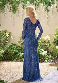 Jade J195019 Blue Mother Of The Bride Dress