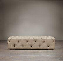 RH Soho Tufted Upholstered Ottoman