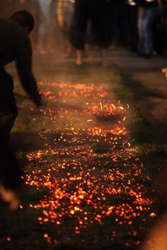 "Firewalking at Anthony Robbin's ""Unleash the Power Within"" in Singapore, Kuala Lumpur and Sydney."