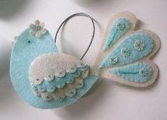Sweet felt bird ornament. by bettye