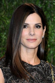 We can't forget Sandra Bullock's great performance in The Blind Side. Sandra Bullock portrayed a successful character and won the Academy Award. Trendy Haircut, Haircuts For Long Hair, Cool Haircuts, Long Blunt Haircut, Sleek Hairstyles, Straight Hairstyles, Popular Hairstyles, Hair Styles 2014, Long Hair Styles