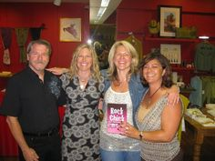 My Rock Chicks and Rock Guru - the folks on the acknowledgement page who read Rock Chick and cheered me on along the way - Will Womack, Cat Kruzek and Dena Cocetti.  August 23, 2009