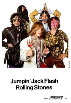 The Rolling Stones - Jumpin' Jack Flash - 1968 - Single Release Promo Magnet Rock Posters, Band Posters, Concert Posters, Music Posters, Ron Woods, Music Page, Charlie Watts, Rock Of Ages, Recorder Music