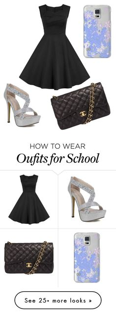"""""""At my ball at school"""" by rookiediva on Polyvore featuring Chanel, Casetify, women's clothing, women's fashion, women, female, woman, misses and juniors"""