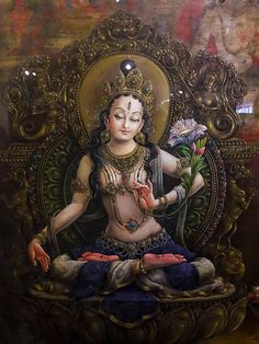 Commission authentic Thangka paintings, Tibetan mandalas, Himalayan masks, Hindu and Buddhist works of art created by the artists of a lovely community in Nepal Tara Goddess, Mother Goddess, Goddess Art, Divine Mother, Tantra Art, Vajrayana Buddhism, Thangka Painting, Tibetan Art, Buddha Art