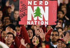 Nerd Nation in the Stanford fan section in the 2013 Rose Bowl Game presented by VIZIO against Wisconsin Badgers
