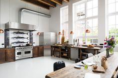 Lieu atypique : Rénovation d'une ancienne école aux Pays Bas || Cuisine de style industriel
