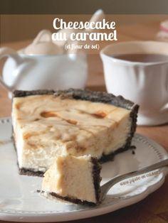 Cheesecake au caramel beurre et fleur de sel (et oréo)