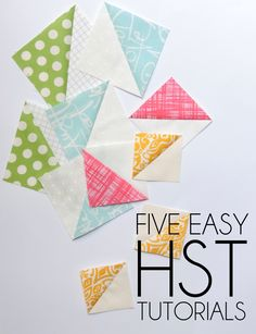 Half square triangles are a favorite block for creating all different kinds of quilt patterns. Learn how to make HST's in these tutorials.