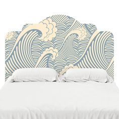 Designed to look like the real deal, these adhesive headboard decals are printed on our popular FabTac material — the same material we use for our wallpaper. They can be removed, reused, an