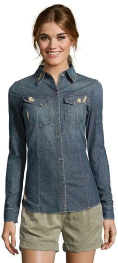charm cotton  Essential  long sleeve chambray shirt Price   260.00  Sale  Off Price edfac89c6b13