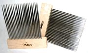 Valkyrie Double Row ExtraFine Combs.  Review on sizes: http://www.rhonna.net/reviews/valkyrie-wool-combs