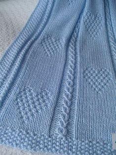 Baby Blanket 13 blu coperta del bambino maglia di Ednascloset