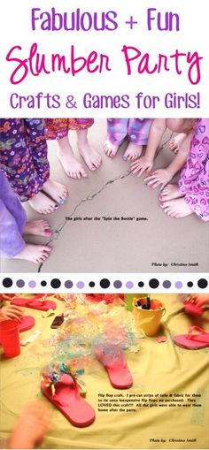 Girls Slumber Party Crafts and Fun Games! ~ at TheFrugalGirls.com - you'll love…