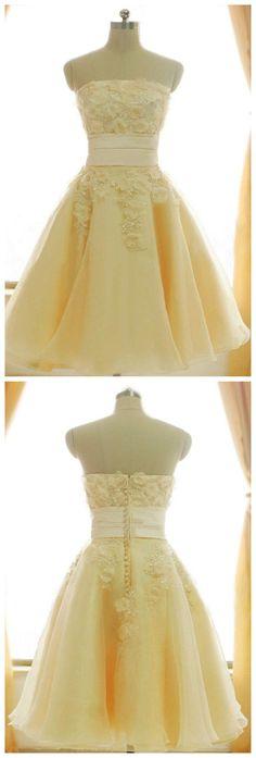 Short Homecoming Dress,Strapless Ho