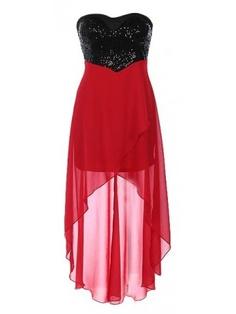 Sequin High-Low Dress