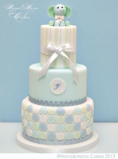 baby shower cake. simple and elegant!