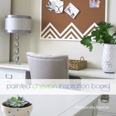 diy painted chevron inspiration board