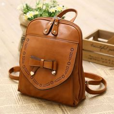 I am so happy to find the  Vintage Style PU Leather Bow Backpack from ByGoods.com. I like it <3!Do you like it,too?