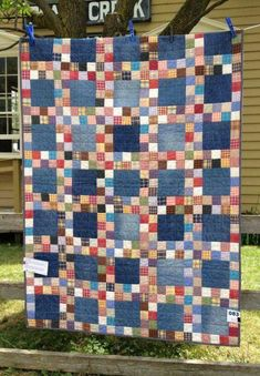 Denim and flannel shirts quilt