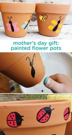 Celebrate all the wonderful moms in your life with this easy DIY gift idea for painted flower. Celebrate all the wonderful moms in your life with this easy DIY gift idea for painted flower pots. Kids Crafts, Garden Crafts For Kids, Mothers Day Crafts For Kids, Diy Mothers Day Gifts, Baby Crafts, Toddler Crafts, Mothers Day Flower Pot, Mother Gifts, Easy Diy Mother's Day Gifts