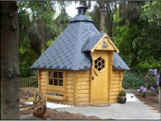 Tiny homes are growing in demand. Made in Germany, this wooden playhouse is perfect for the outdoor enthusiast seeking shelter while hunting and fishing. Or it's perfect for adults getting together over a smoke pit. Available at diykidshouses.com/product/scandinavian-pine-kota-grill-house