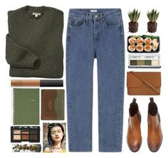 """Untitled #1799"" by tacoxcat ❤ liked on Polyvore featuring Barbour, NARS Cosmetics, Vince, Clinique, rag & bone and Pier 1 Imports"