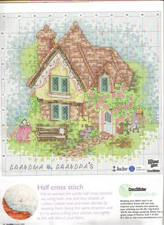 Schema punto croce Casa Dei Nonni 02