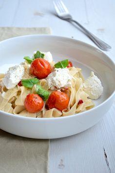 Makkelijke Maaltijd: Pasta met geroosterde tomaten - italian food - pasta - roasted tomatos