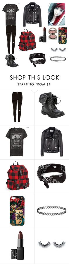 """AC⚡️DC"" by theghostgirl157 ❤ liked on Polyvore featuring River Island, Acne Studios, Aéropostale, claire's, NARS Cosmetics and Chantecaille"